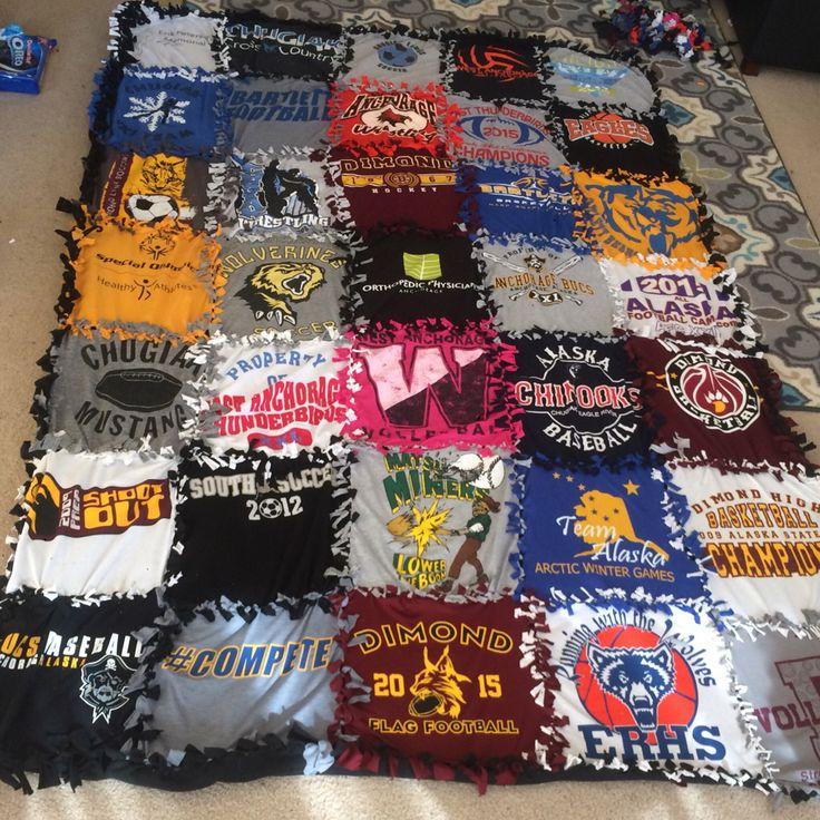 T Shirt Blanket No Sew