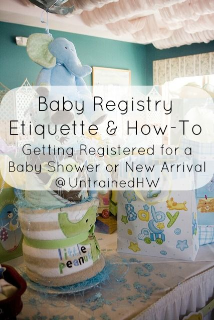 Baby Shower Invitations Registry Information Etiquette