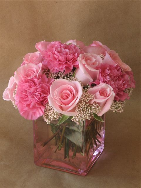 White Rose And Carnation Wedding Centerpieces