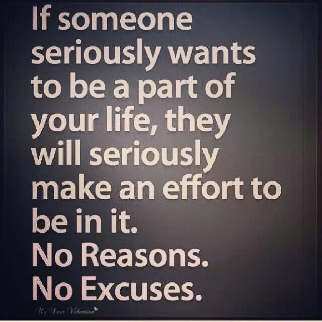 Excuses Relationships