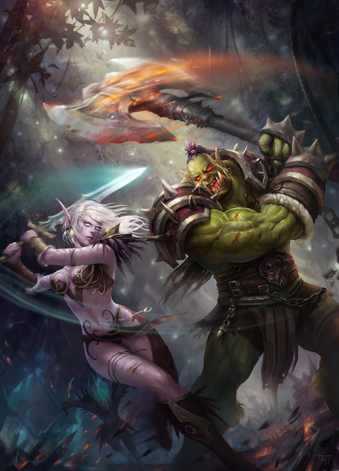 Warriors Vs Monsters Art