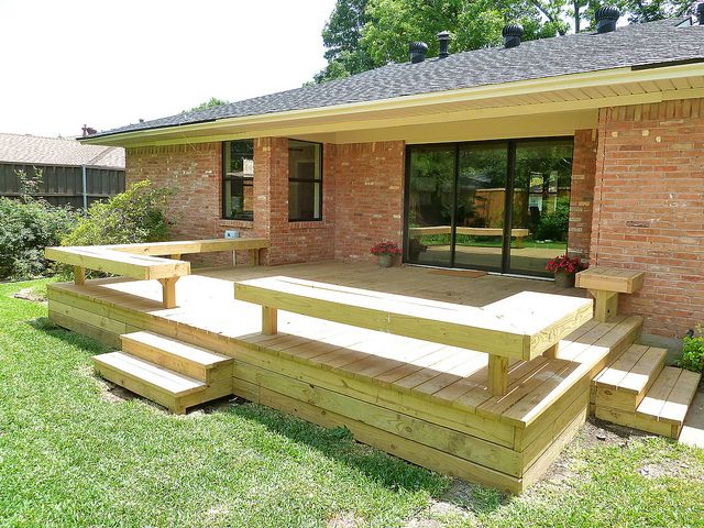 Deck Designs Bench Seating