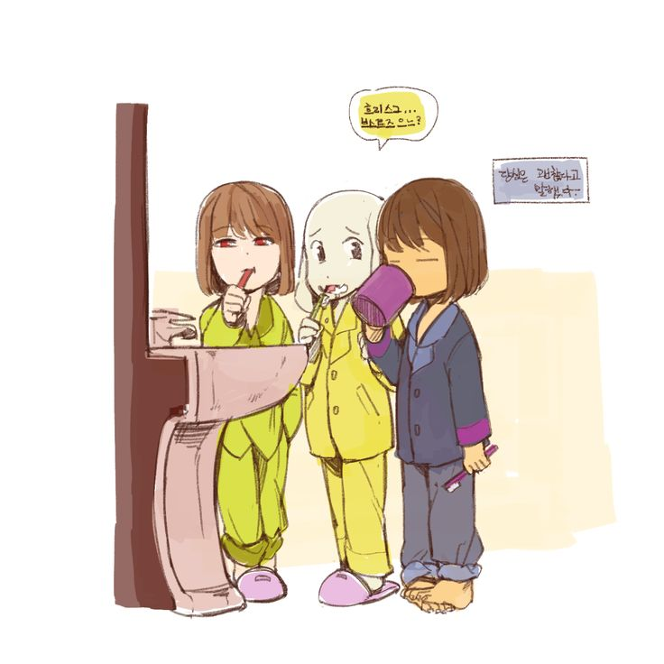 Frisk And Chara Asriel And Sans Undertale