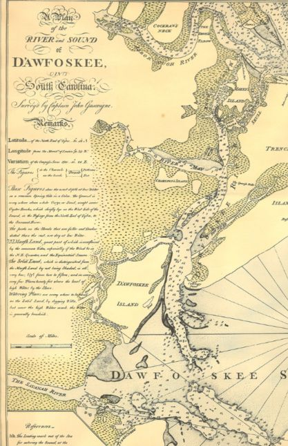 Vintage Map Lowcountry Sc