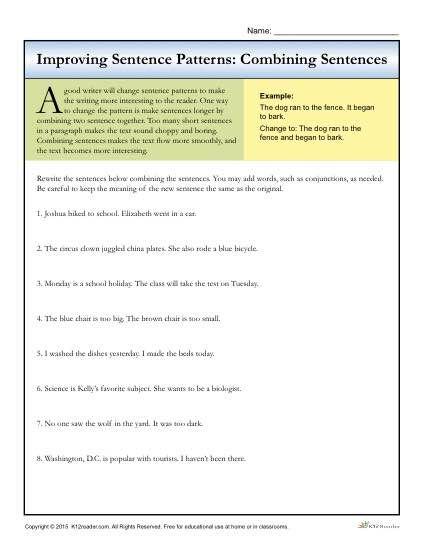 Fifth Worksheet Grade Compound Sentences Making