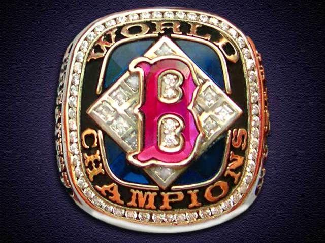 Red 2004 Rings Boston Sox Championship