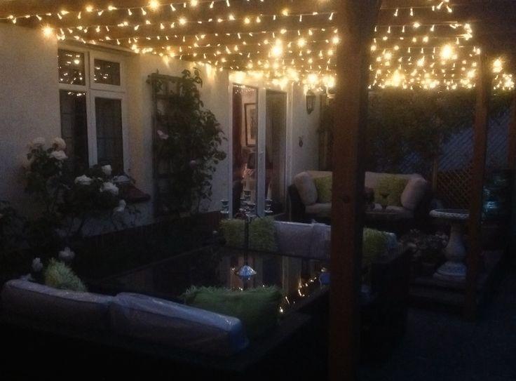 Outdoor White Lights On Gazebo I Like This Fairy Lights