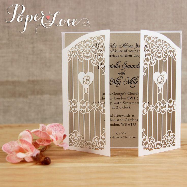 Laser Cut Gatefold Wedding Invitations