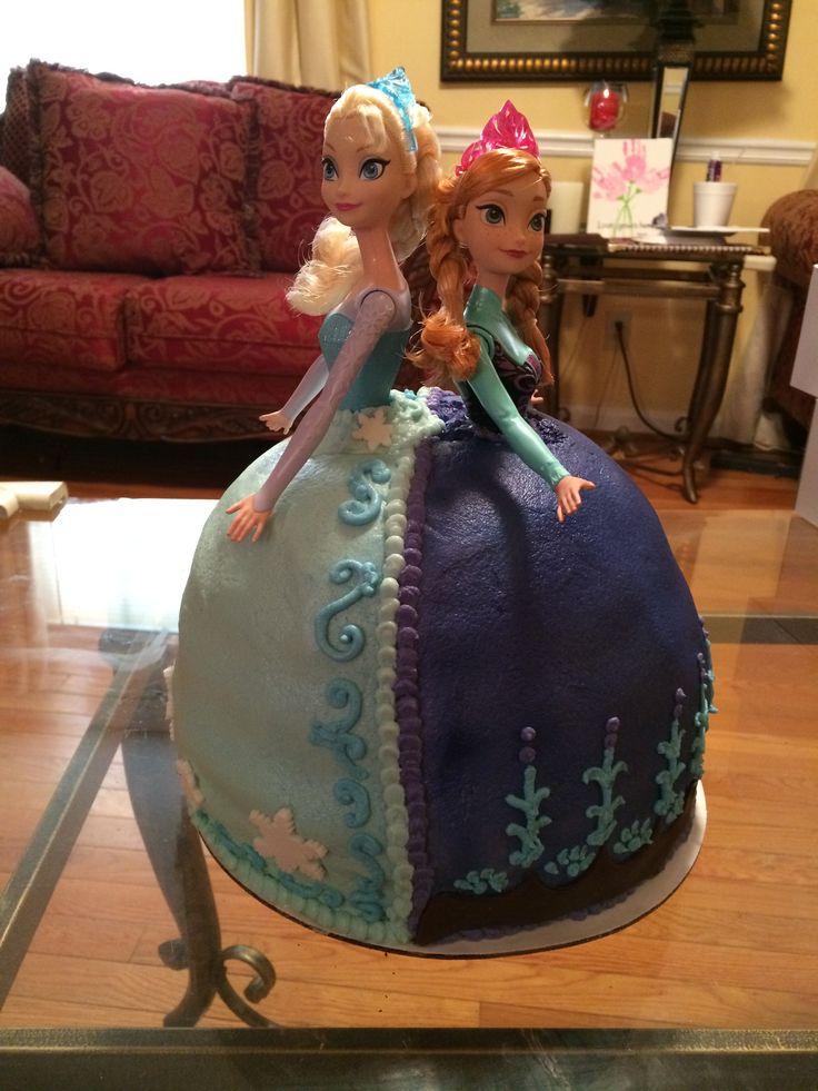 1000 Ideas About Frozen Doll Cake On Pinterest Frozen