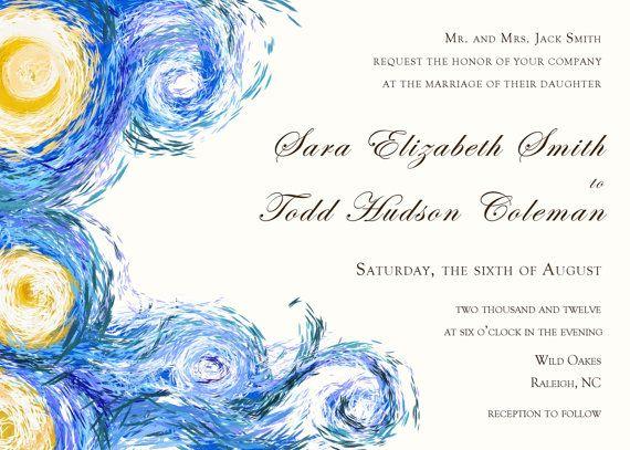 Navy Wedding Shower Invitations