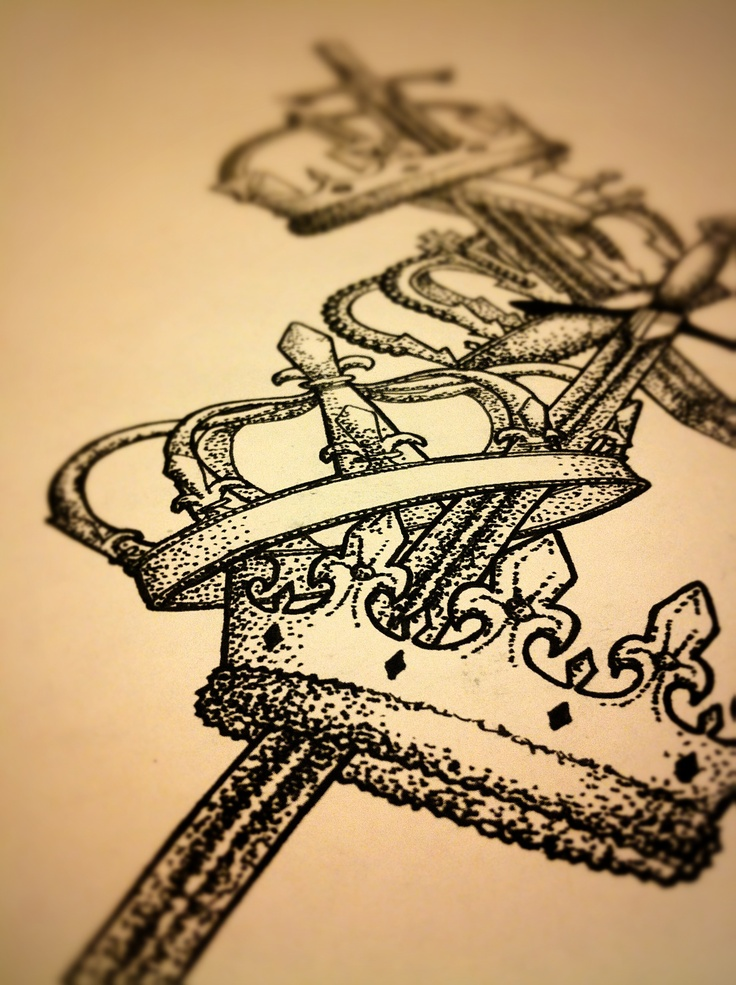 Crowns And Swords Tattoo Pinterest Swords And Crowns
