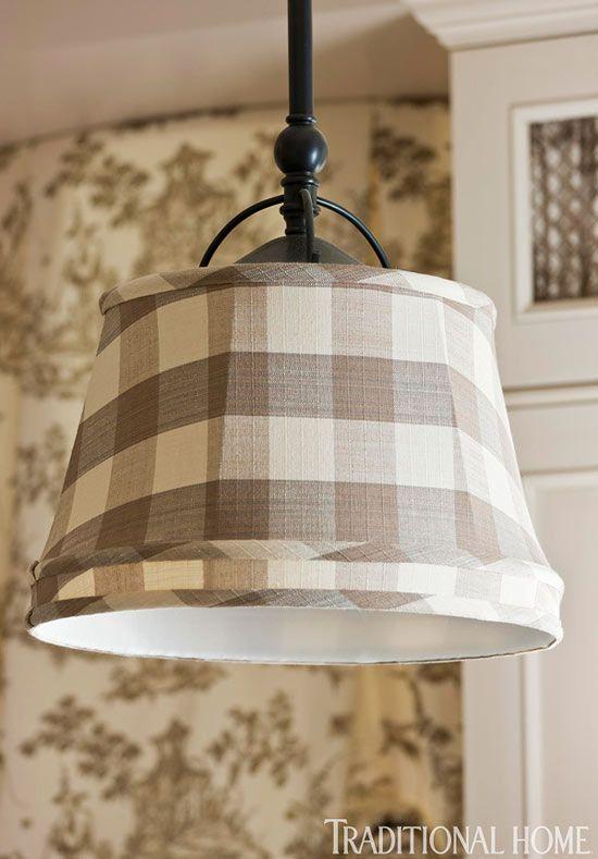 Buffalo Check Fabric Lamp Shades Found On Mixandchic Com