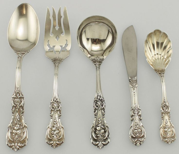 Barton Sterling Setting Silver I Francis Piece And Reed 4 Flatware