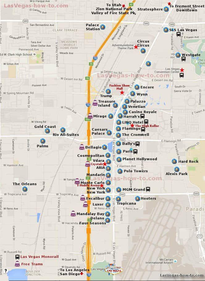 Map Planet Hollywood Resort Las Vegas Map