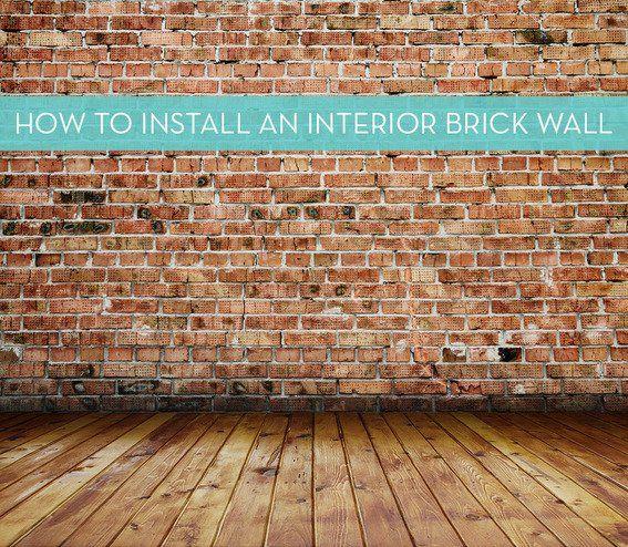 Fake Bricks Interior Walls
