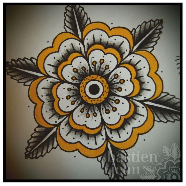 Tudor Rose Mandala Tattoo