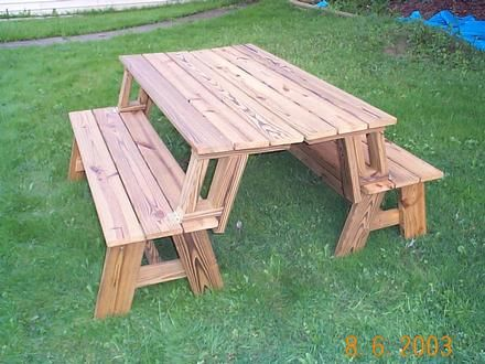 Picnic Table That Turns Into Benches Projects For Chad