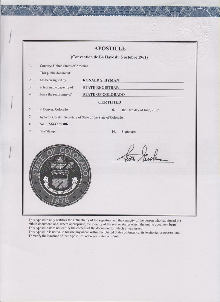 Marriage Certified Certificate Colorado