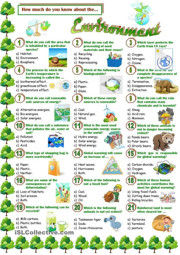 Recycling Worksheets Esl