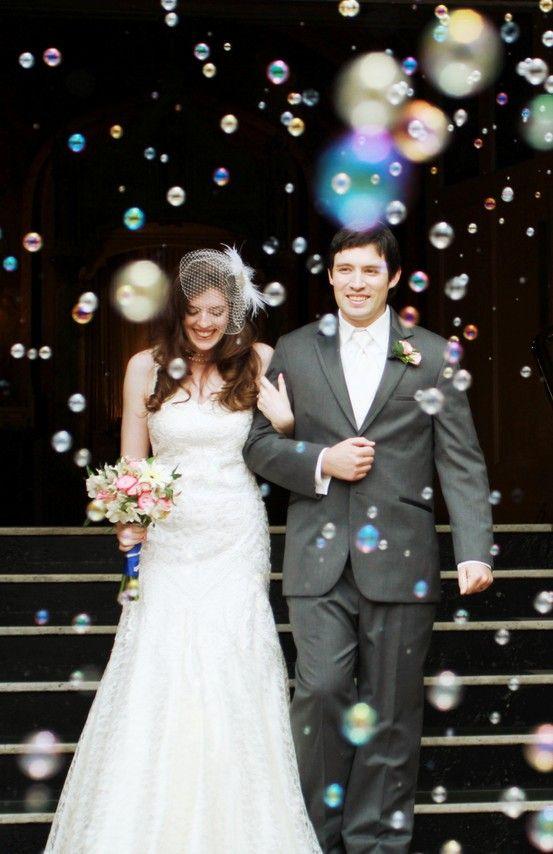 Fall Wedding Bubbles
