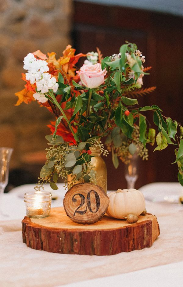 Country Wedding Table Arrangements