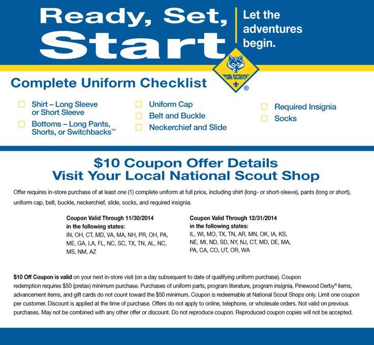 Cub Scout Uniform Checklist