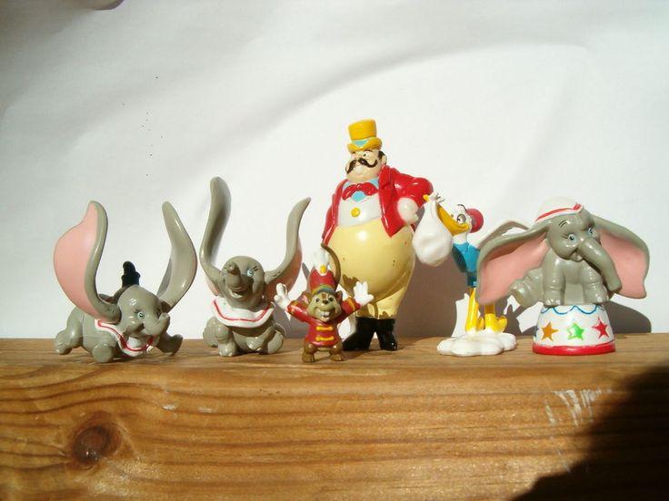 6 Figurines Figures Figuras Figuren Pvc Kid M Dumbo Disney
