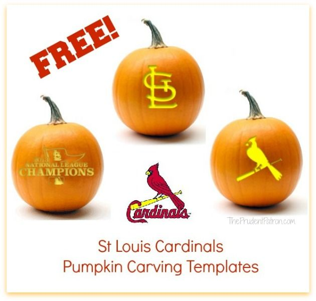 St Louis Pumpkin Cardinals Carved