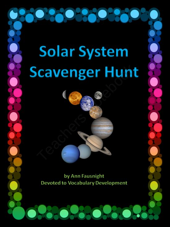 Inner Planets Vocabulary Activity
