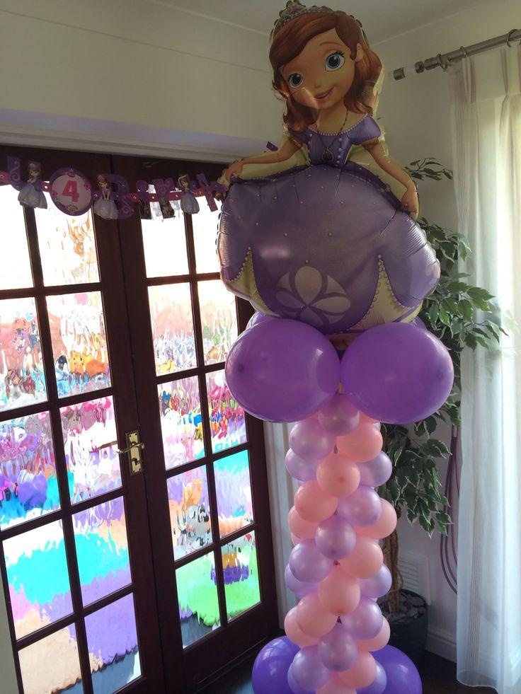 Sofia Balloon Tower Sofia The First Pinterest
