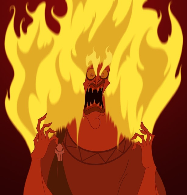 Lastly, we have a very angry Hades, from the Hercules ...