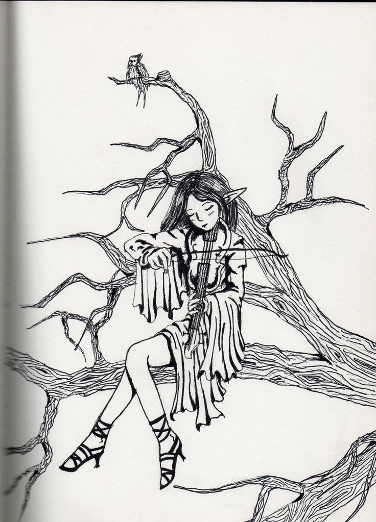 Drawings Christmas Elves Pencil