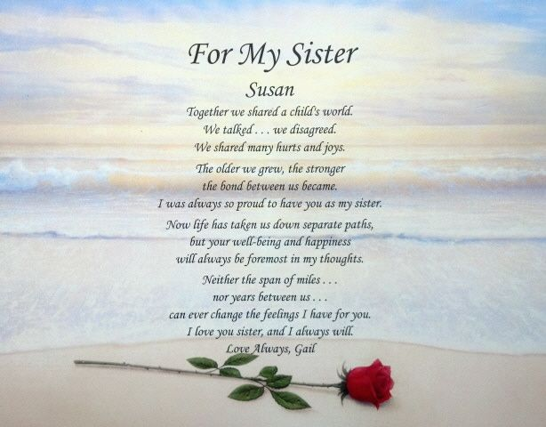 Poems About Sister Loss