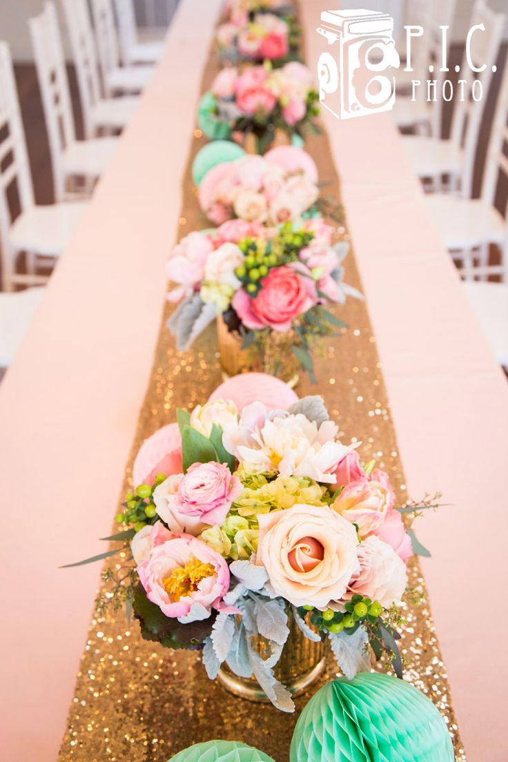Pink Black Table Runner