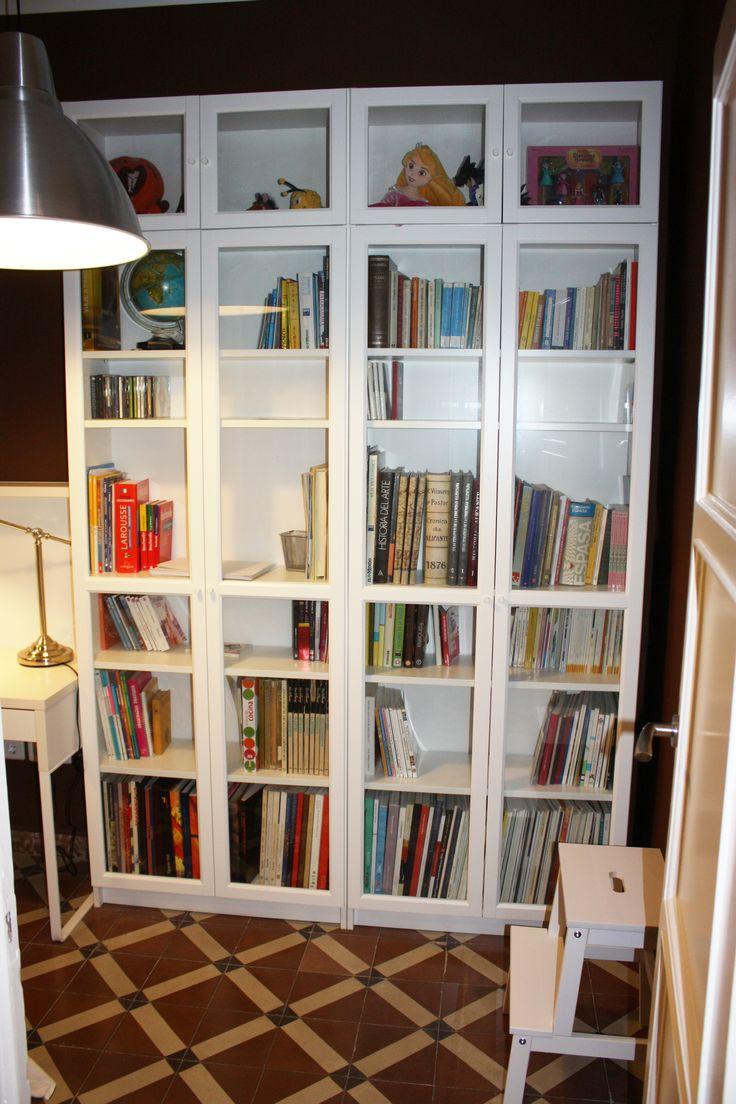 Biblioteca Muebles Y L 225 Mpara De Ikea En Blanco Y Metal