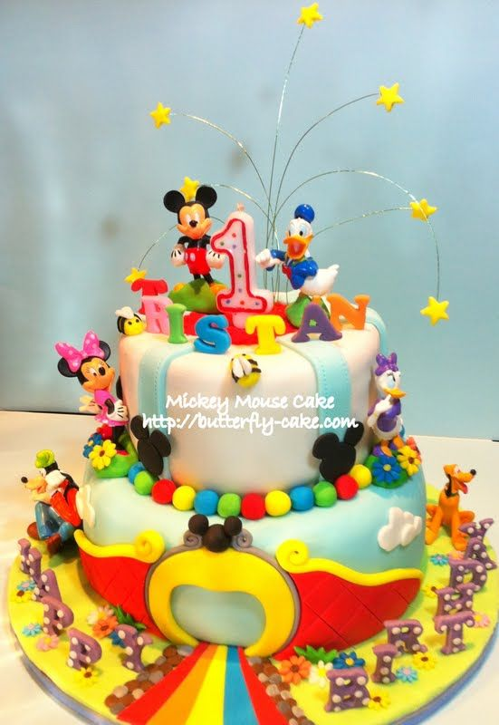 Mickey Mouse Clubhouse Cake Topper Figurines Cake