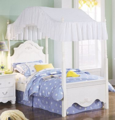 Twin Canopy Bed Standard Furniture Diana Girls Room