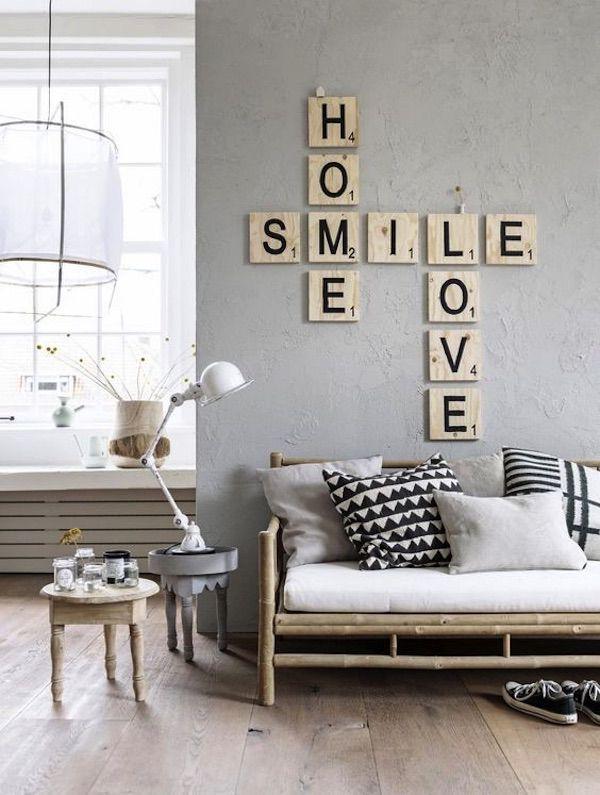 Scrabble Letters Home Decor