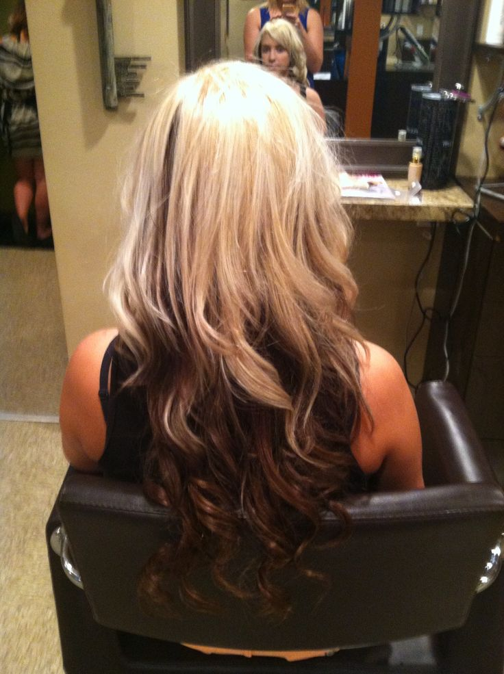 Blonde Hair Light Brown Underneath