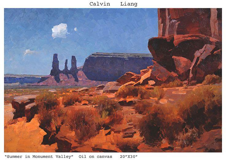 Painting Mountains Landscape Acrylic Southwestern