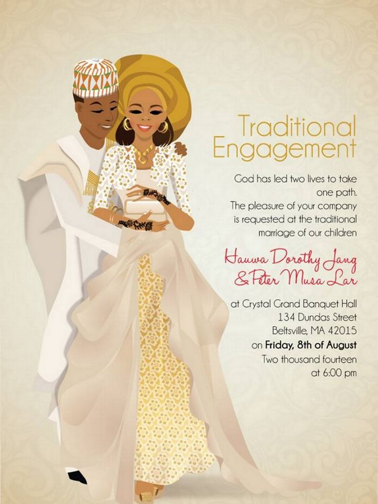 Xhosa Bridal Shower Invitations