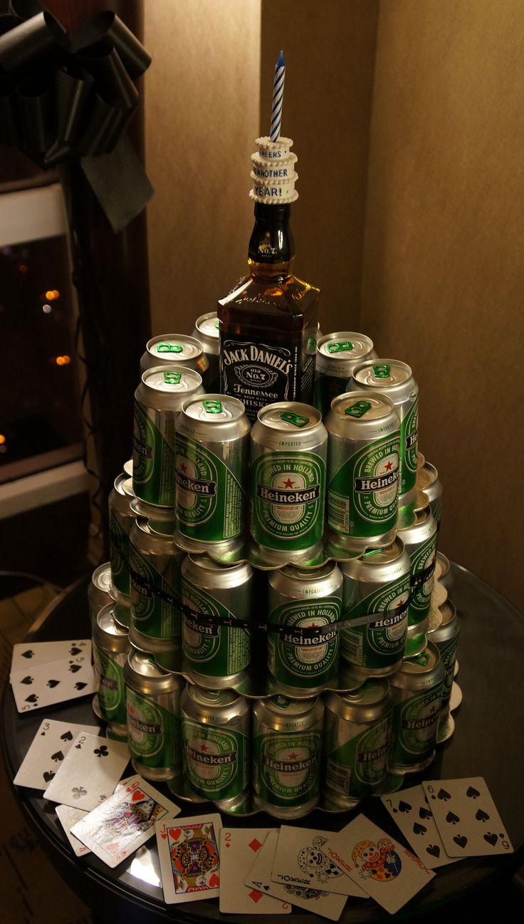 Tiered Heineken Cake ★ 21st Birthday Babe S B Day