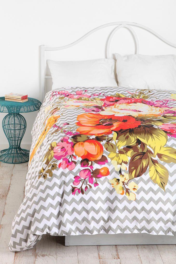Plum Amp Bow Graphic Bouquet Duvet Cover Homie Pinterest