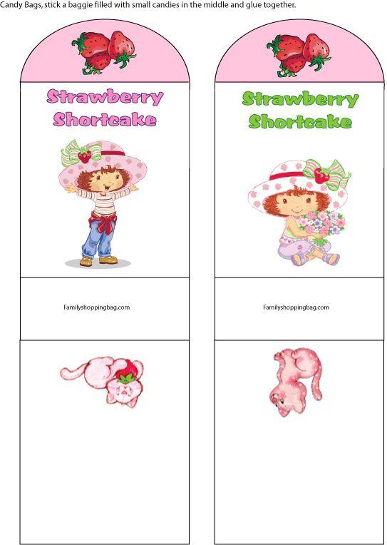 Strawberry Shortcake Favor Bags