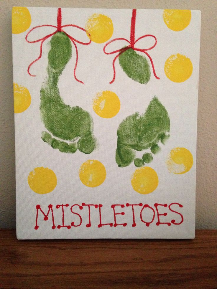 Mistletoe Footprint Craft