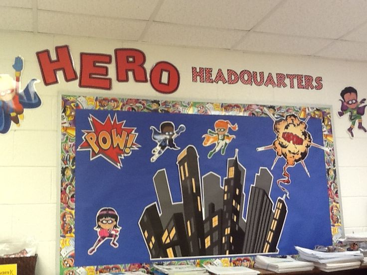 Superhero Bulletin Board Superhero Pinterest