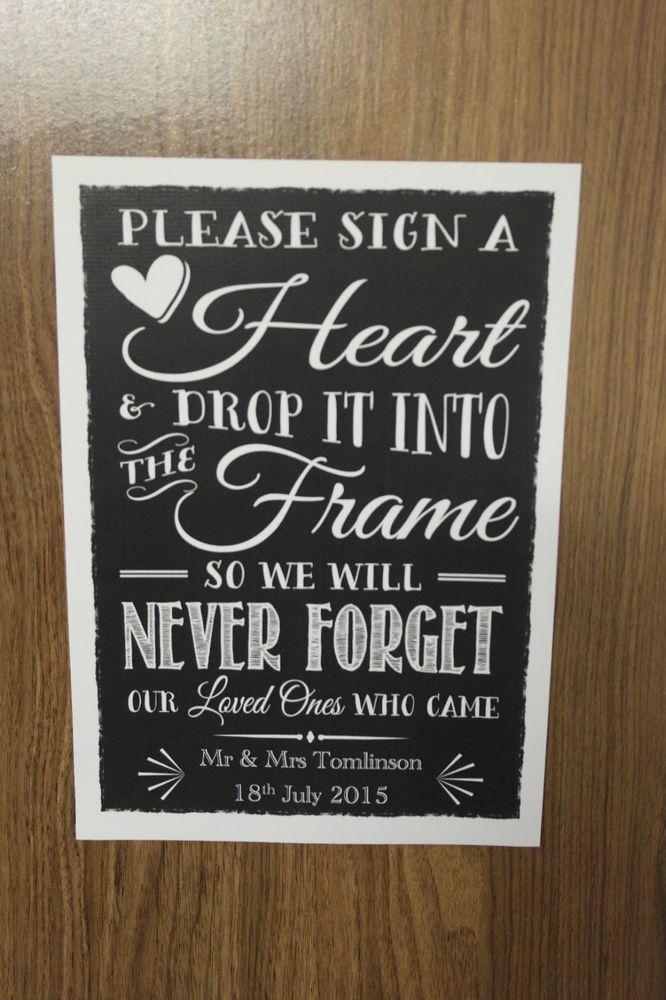 Guest Book Frames Messages