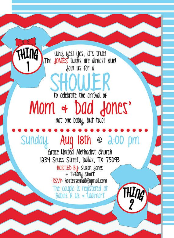 Baby Shower Invitations Thing 1 And Thing 2
