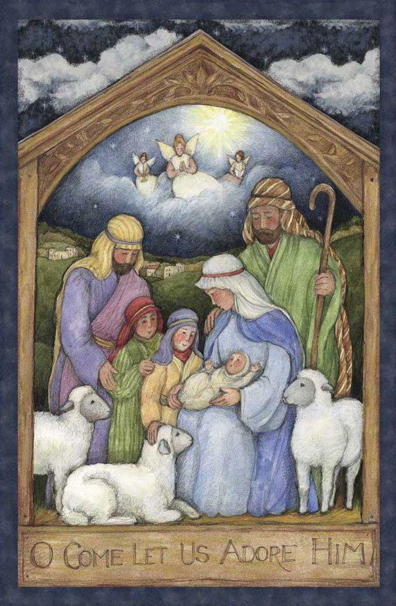 Holy Family Nativity Fabric