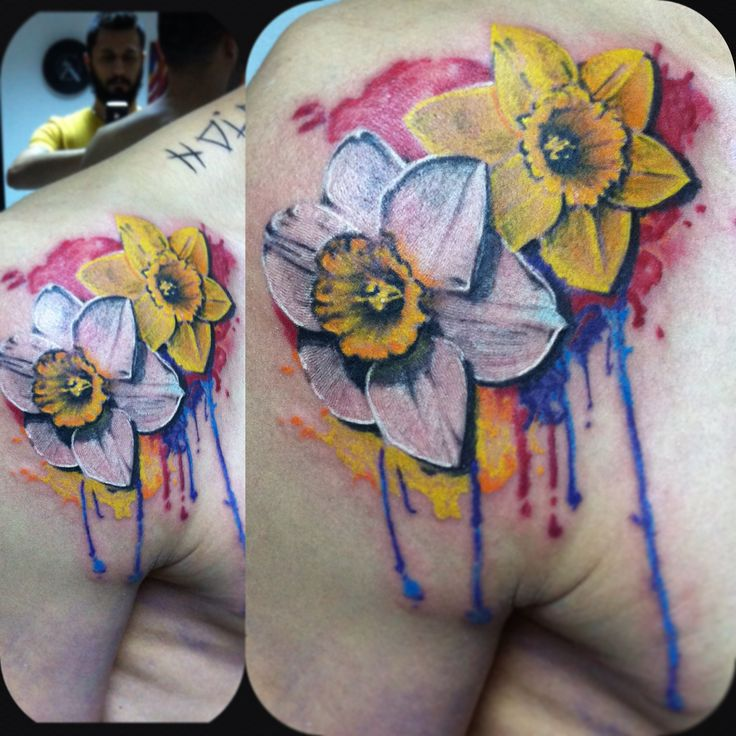And 2019 Tattoo Rose Marigold Daffodil